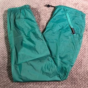 Patagonia Vintage Drawstring Waist Cinch Windbreaker Pants with Expanding Ankles